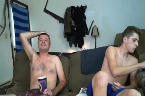 1 daddy And 1 youthful man stroking In cam