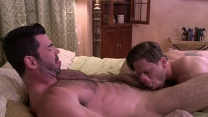 IconMale: Hairy DILF Roman Todd reality blowjob cum