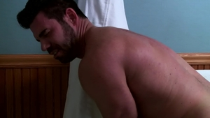 IconMale: Muscle Jaxton Wheeler goes in for hard nailining