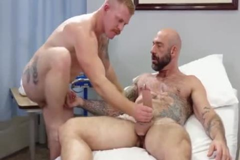 gay Sex : Drew Sebastian & Nurse Ginger Piercing Bear (naked)