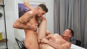 DrillMyHole - Chris Damned and Dante Colle doggy fucks