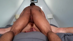 Next Door Studios: Trent King showing black cock