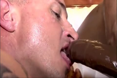 White lad gets Creampied By Two darksome dicks