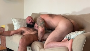 MenOver30 - Hairy Julian Torres cum on face sensual kissing