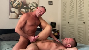 MenOver30.com: Hairy & muscle gay Jacob Woods POV rimming