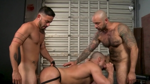 PrideStudios - Blond Ricky Larkin in uniform rimming