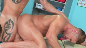 HotHouse - Sean Maygers in uniform & Josh Conners stretching