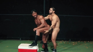Hot House - Arad Winwin fucked by balls Micah Brandt outdoors