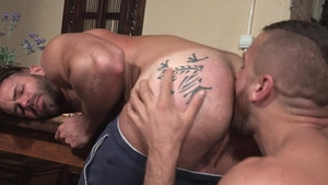 Hot House: Stiff Emir Boscatto kissing each other pounding