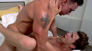 Falcon Studios - Kuper plus Cade Maddox stroking on the couch