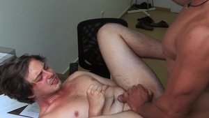 Dirty Scout: Muscled & dirty scout bareback doggy fuck indoors