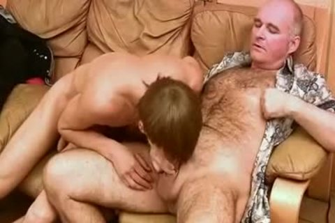 Vintage clip Where Daddy & youthful Russians engulf & hammer