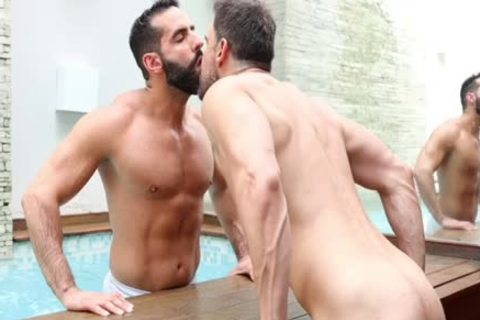 Brazilian duo Have A admirable Time By An Indoor Pool And In daybed